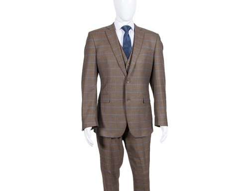 Tweed Checked 3 Piece Suit