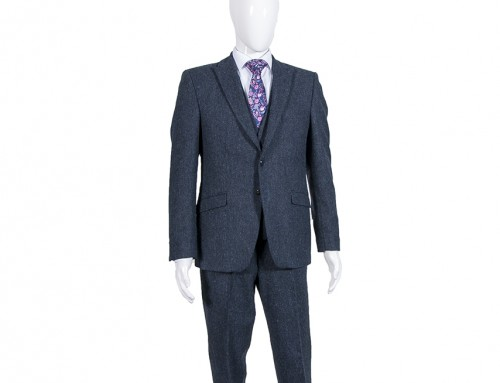 Navy Tweed 3 Piece Suit