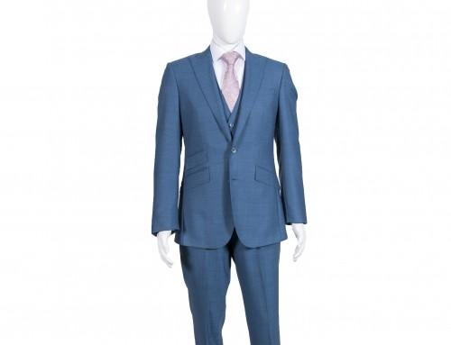 M2M Petrol Blue 3 Piece Suit